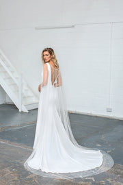 The Olive Wedding Dress Cape