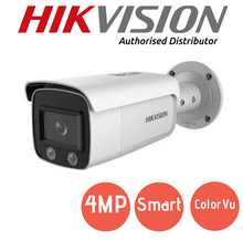 Load image into Gallery viewer, Hikvision 4MP ColorVu IP Camera - DS-2CD2T47G1-L