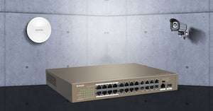 Tenda 24 Port Ethernet Switch with 24 Port PoE - TEF1126P-24-250W