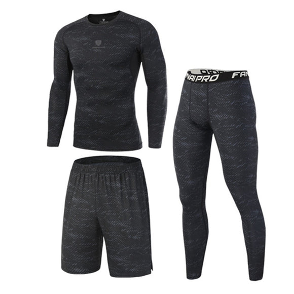 High Quality Compression Men's Sport Suits Quick Dry Running sets Clothes Sports Joggers Training Gym Fitness Tracksuits Running