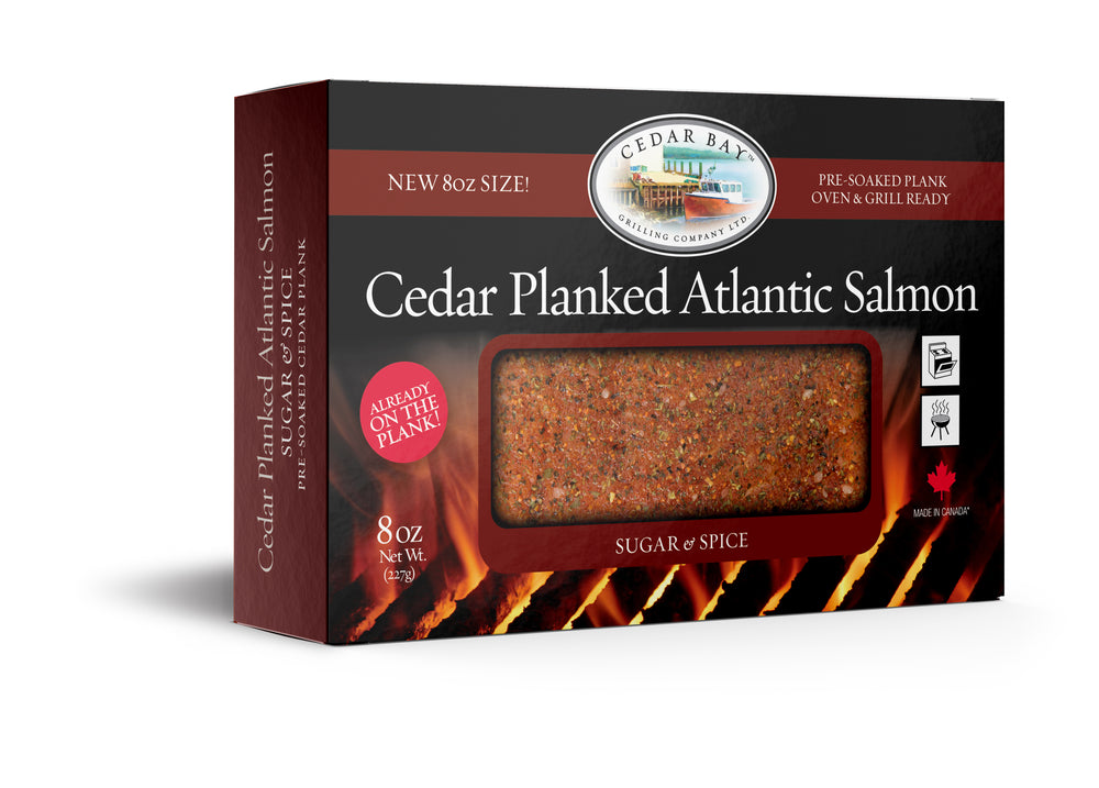 8 oz Cedar Planked Atlantic Salmon - Sugar & Spice