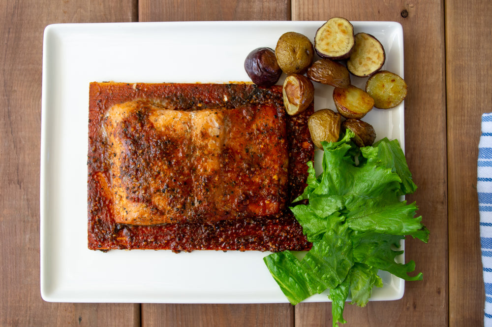 9.7 oz Cedar Planked Atlantic Salmon - Applewood with Orange & Ginger