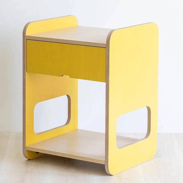 Yellow bedside table