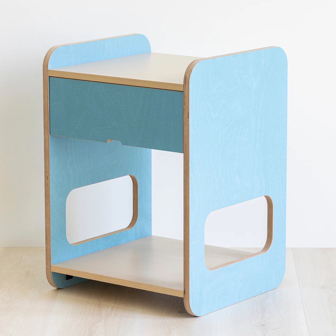 Blue bedside table