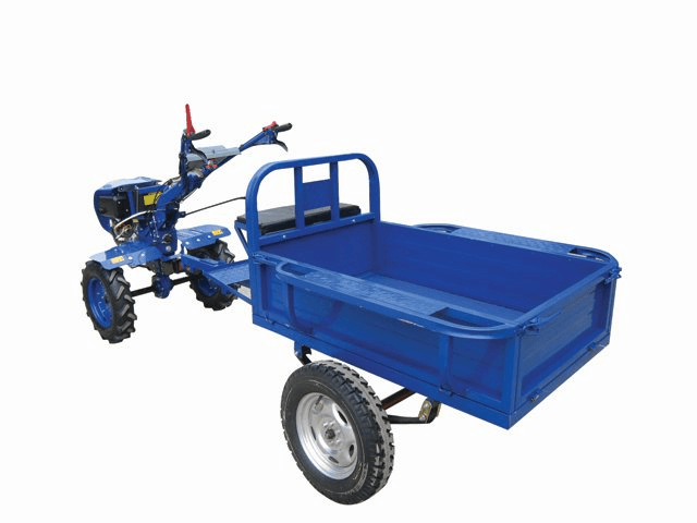 Trailer for Diesel Power Tillers (Red)