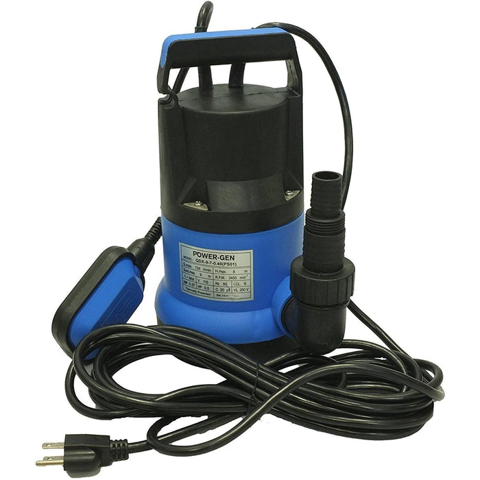 "PLSP-9-7: Plastic Submersible Pump 1"" 0.55HP"