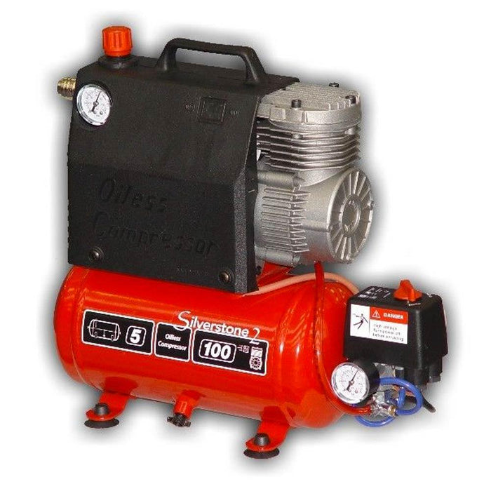 Silverstone 2: Oil Free Air Compressor 0.5 HP 5 L