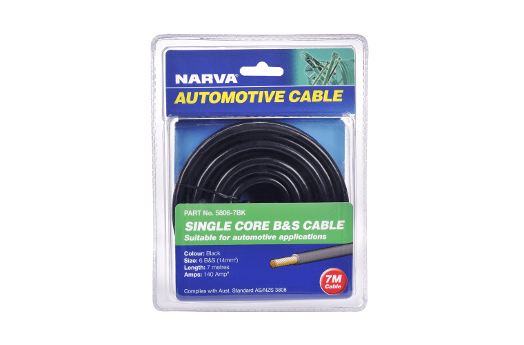 battery cables 140A BLACK 6 B&S CABLE (7M) - Micks Gone Bush