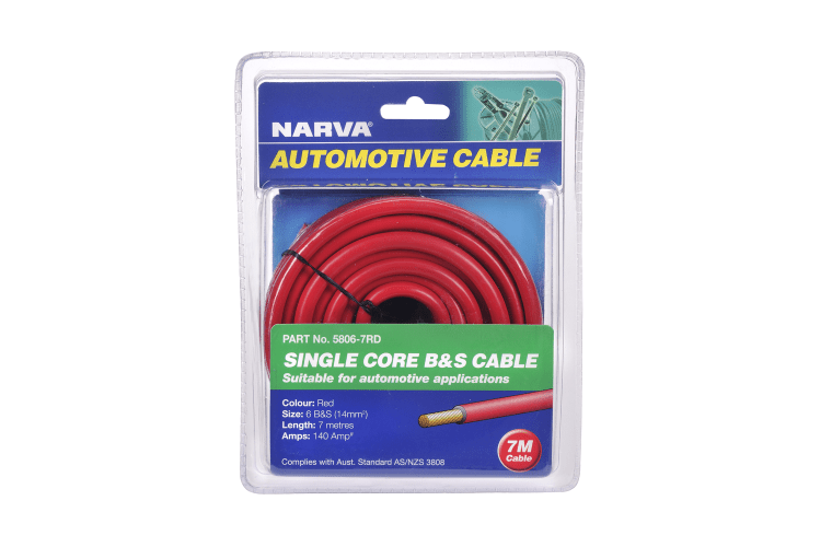 Battery Cables 140A RED 6 B&S CABLE (7M) - Micks Gone Bush