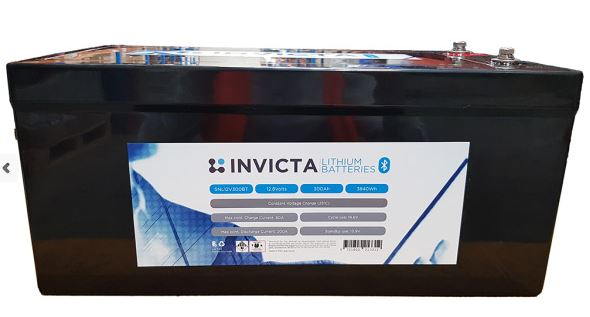 Invicta 12V 300Ah Lithium Battery with Bluetooth - Micks Gone Bush