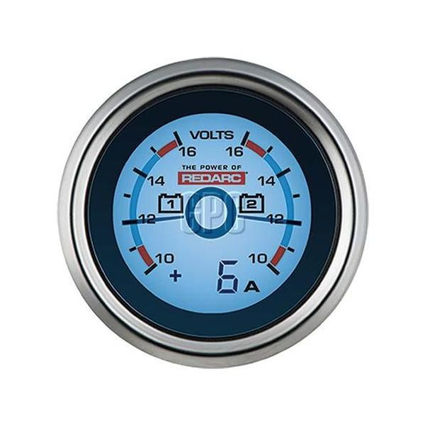 REDARC Dual Voltage 52mm Gauge with optional current display - Micks Gone Bush