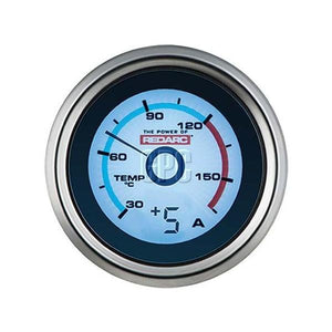 Redarc Single Temperature 52mm Gauge with optional current display | Mikes Gone Bush