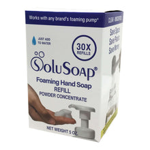 Load image into Gallery viewer, 30X Refills of SoluSoap Foaming Hand Soap Powder Concentrate (Jar with Scoop) - Free Shipping
