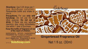 Gingerbread Fragrance Oil for SoluSoap Foaming Hand Soap