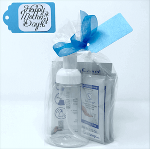Clear Foaming Soap Bottle with White Pump (1 cup, 250ml) plus 5 refills of SoluSoap Foaming Hand Soap (bulk packaging)