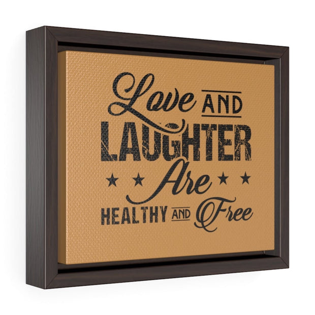 "Black ""Love and Laughter"" Wall Decor"