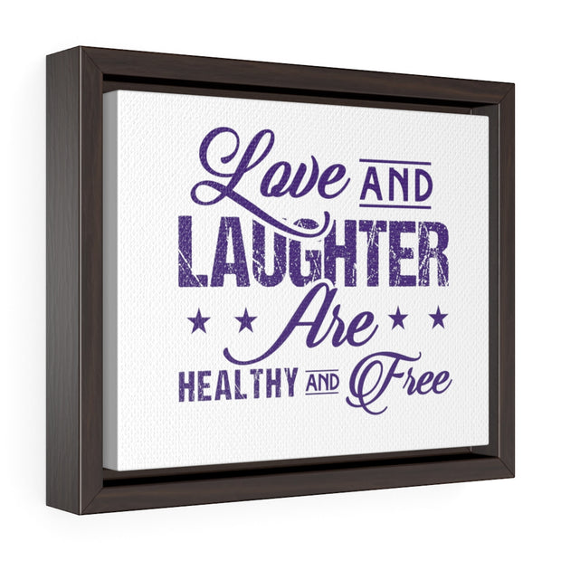 "Purple ""Love and Laughter"" Wall Decor"