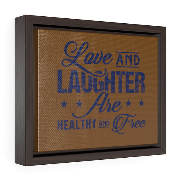 "Blue ""Love and Laughter"" Wall Decor"