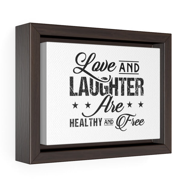 Horizontal Framed Premium Gallery Wrap Canvas - LoveLaughMore