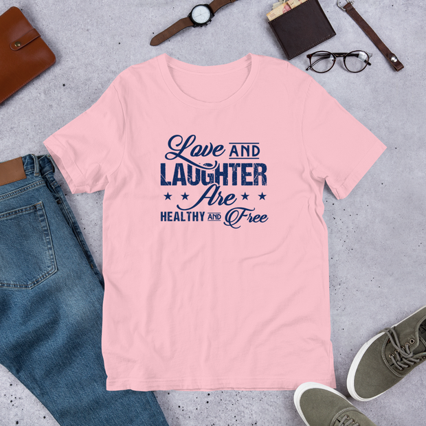 "Men and Women ""Love and Laughter"" T-Shirt - LoveLaughMore"