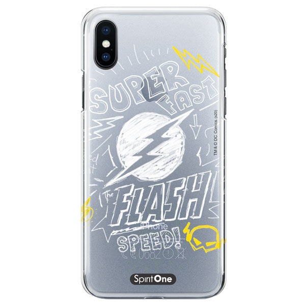 Capinha The Flash - Super Fast The Flash Speed - Transparente - Oficial Warner