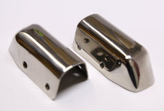 Ensign Bow Caps, Stainless Steel, pair