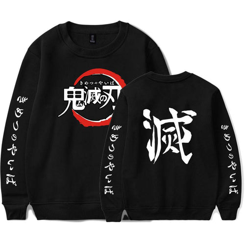 Demon Slayer Long Sleeve  black
