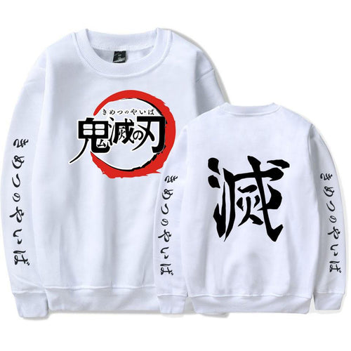 Demon Slayer Long Sleeve  white
