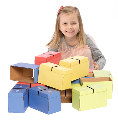 Multicolor 200 XXL Pieces CardBoard Building Blocks