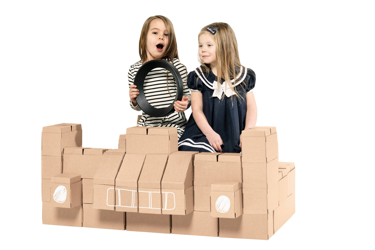 Giant Interlocking 60 XXL Cardboard Building Bricks For Kids
