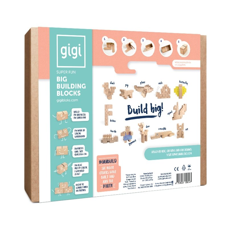 GIGI BLOKS 96XL BUILDING BLOCKS - GIGI TOYS
