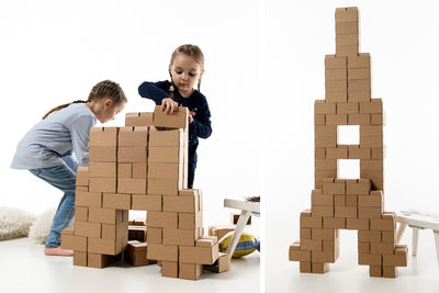 Best Quality Jumbo 96 XL Cardboard Building Blocks for kids - GIGI Bloks