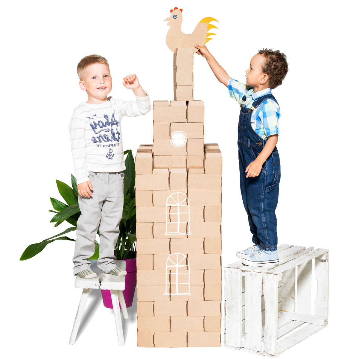 Build Life Sized Adventures with the GIGI BLOKS Cardboard 96 XL Building Blocks