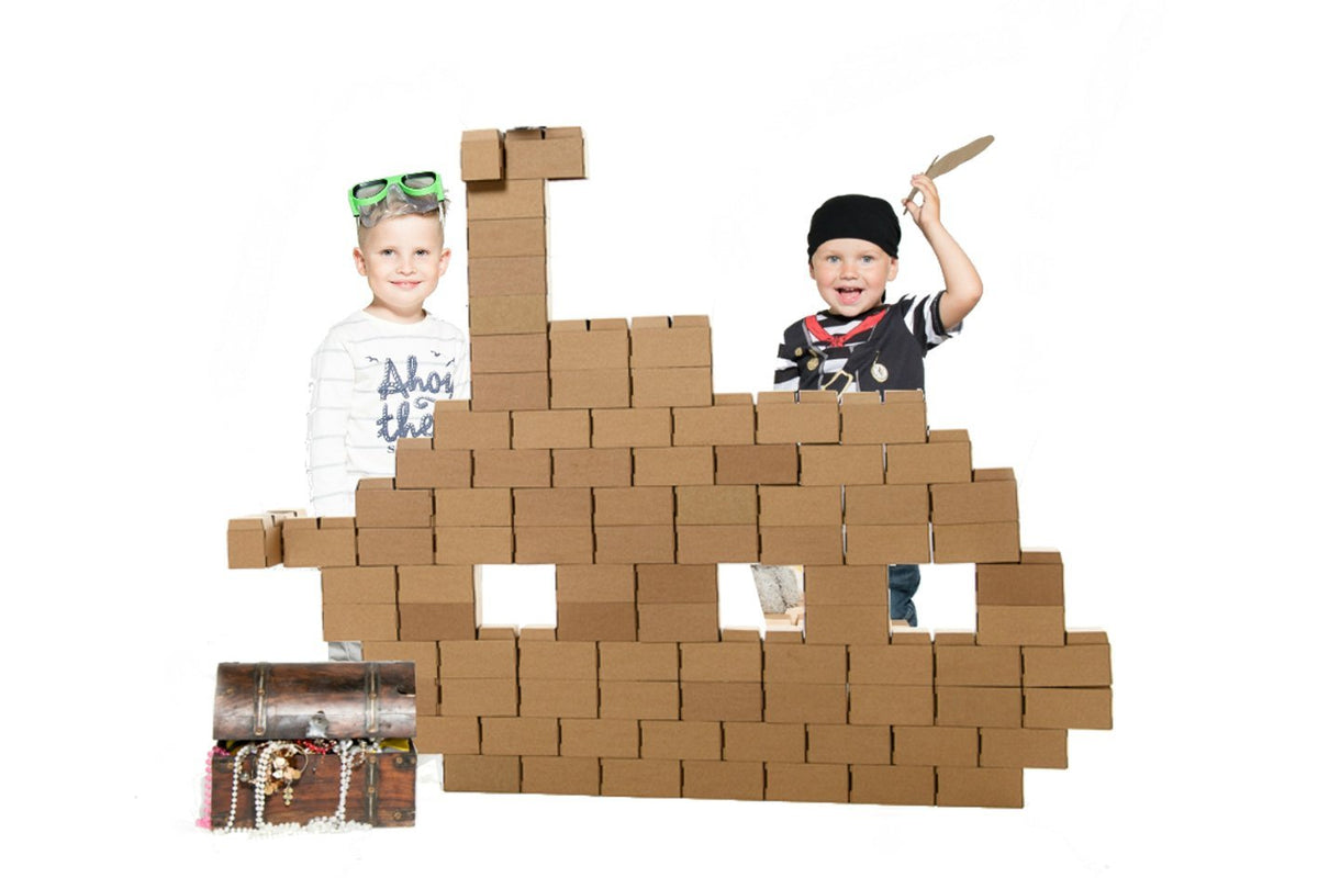 Kids Adventure 96 XL Jumbo Cardboard building blocks - GIGI Bloks