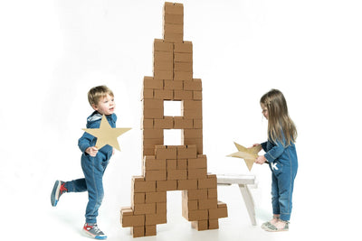 96 XL Cardboard Brick Building Blocks for kids- GIGI Bloks