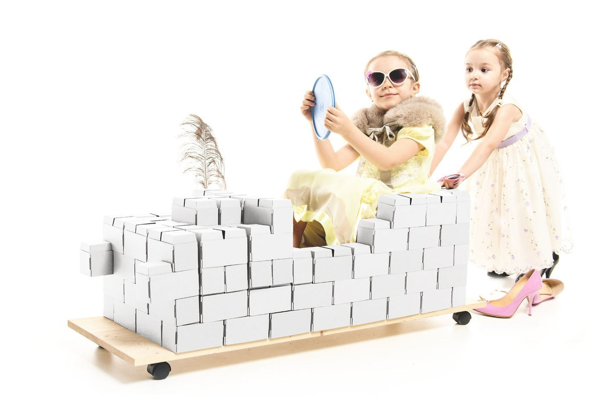 Interlocking 96 XL White Building Blocks For Kids - GIGI Bloks