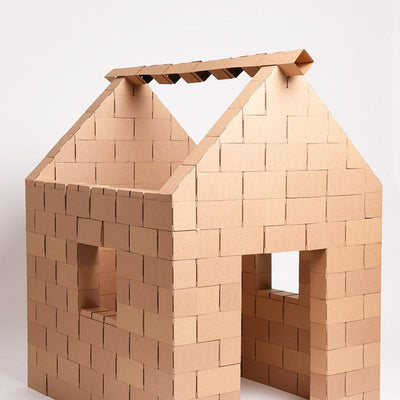 Roof Set Cardboard Building Blocks For Kids - GIGI Bloks