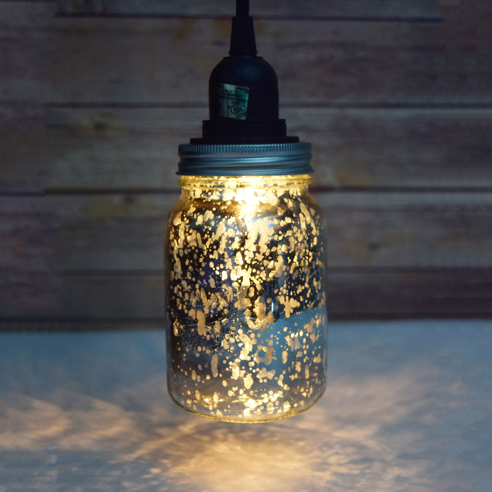DIY: Hanging Mason Jar Pendant Light