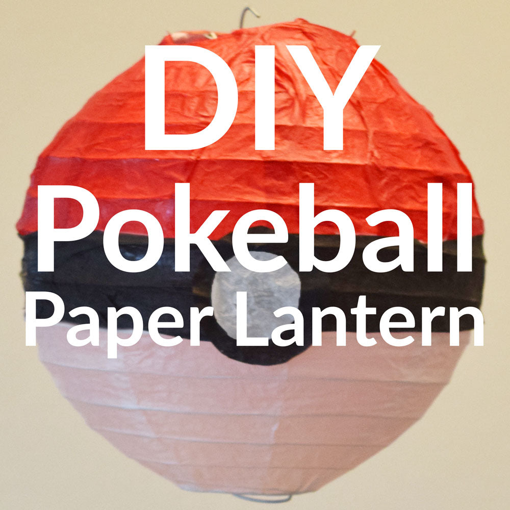 DIY Pokemon Go, Pokeball Paper Lantern