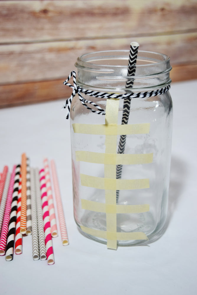 DIY Superbowl Mason Jar