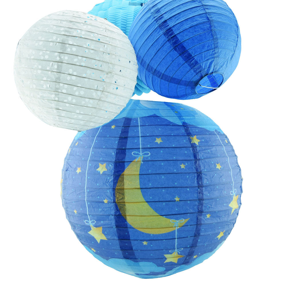 Universe Inspired Hanging Paper Lanterns Nursery Room Decoration