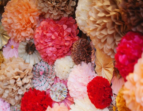 Wedding Decoration Ideas Using Paper Pom Poms