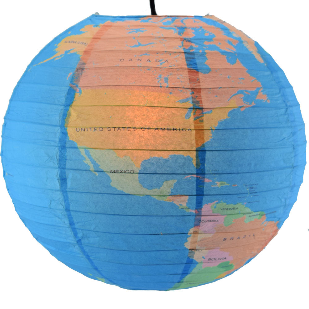 World Globe and Earth Map Paper Lanterns
