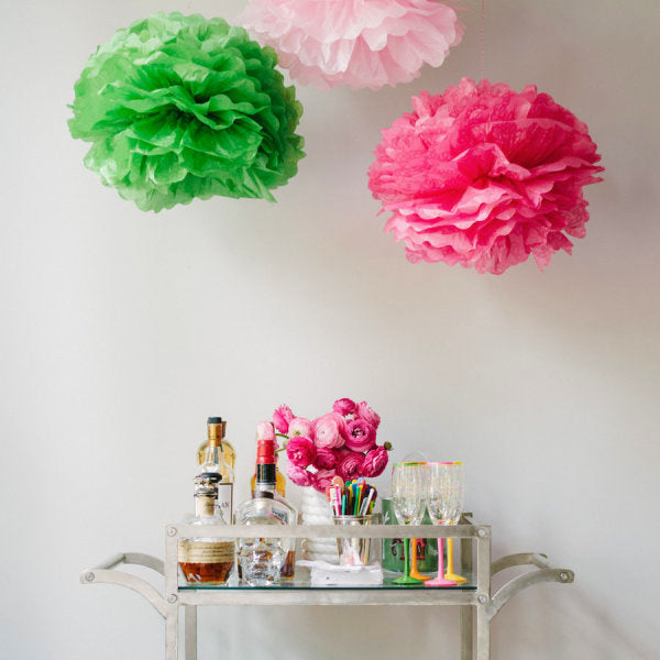 "20"" to 30"" Tissue Flower Pom Poms"
