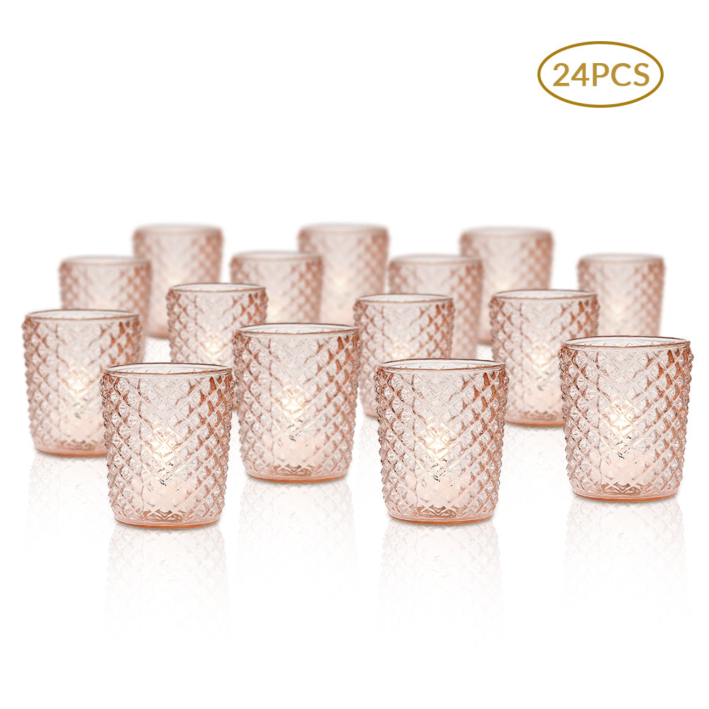 Clear & Colored Glass Votives