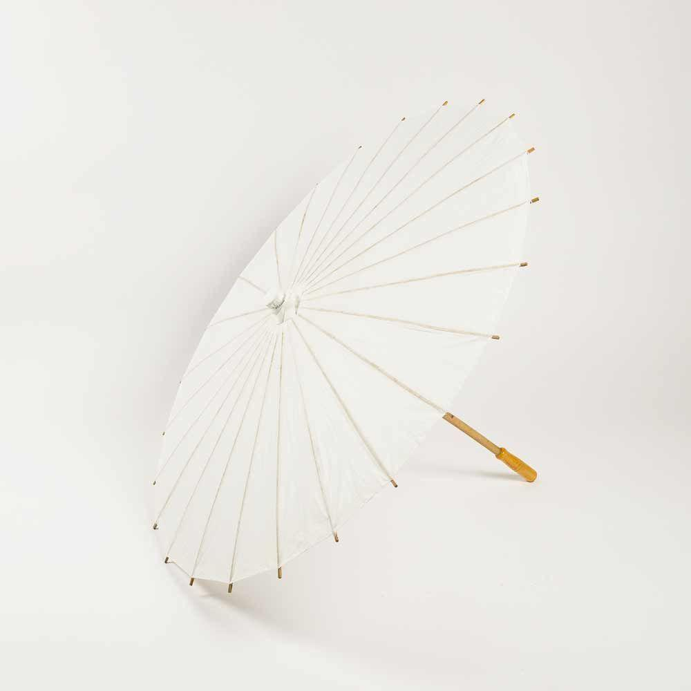 "32"" Solid Color Paper Parasol Umbrellas"