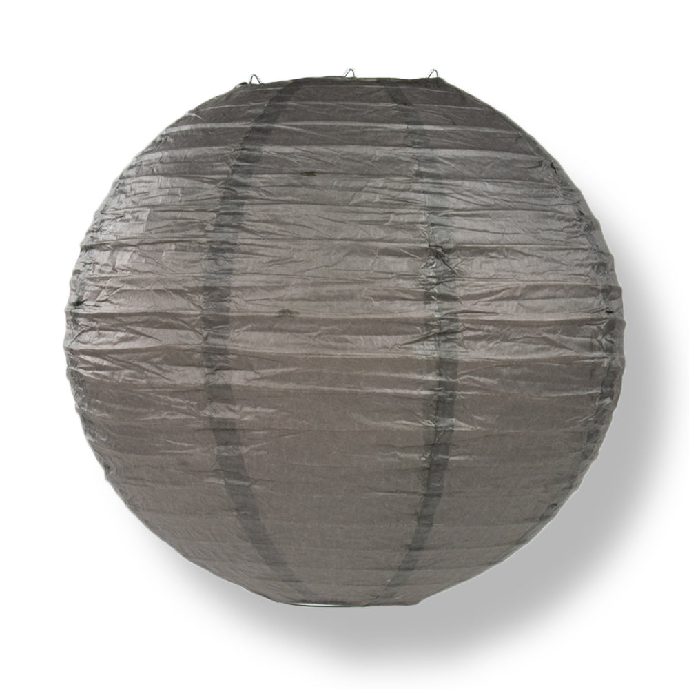 Driftwood Grey Round Even Ribbing Paper Lanterns