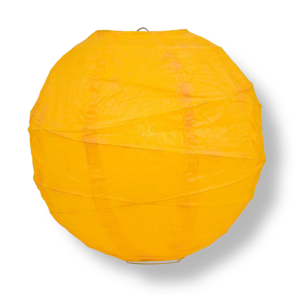 Yellow-Orange Crisscross Ribbing Paper Lanterns