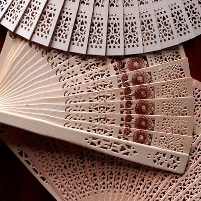 Assorted Color Sandalwood Fans