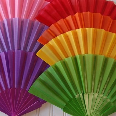 Decorative Nylon Folding Hand Fans